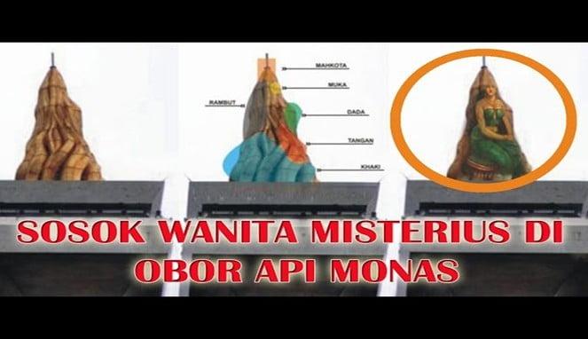 Misteri Sosok Nyi Roro Kidul di Puncak Obor Monas